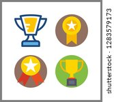 4 championship icon. vector... | Shutterstock .eps vector #1283579173