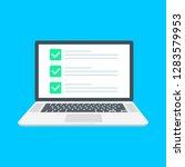 checklist browser window. check ...   Shutterstock .eps vector #1283579953