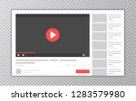 video and media player... | Shutterstock .eps vector #1283579980