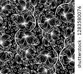 seamless pattern  flower  flat... | Shutterstock .eps vector #1283580076