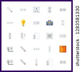 25 switch icon. vector... | Shutterstock .eps vector #1283581330