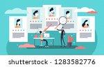 job agency vector illustration. ... | Shutterstock .eps vector #1283582776