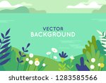 vector illustration in trendy... | Shutterstock .eps vector #1283585566