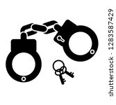 vector simple icon of handcuff... | Shutterstock .eps vector #1283587429