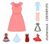 vector design of dress and...   Shutterstock .eps vector #1283589193
