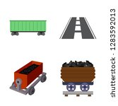 vector illustration of railroad ... | Shutterstock .eps vector #1283592013