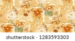 duvet cover pattern with lily... | Shutterstock . vector #1283593303