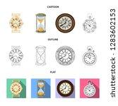 bitmap illustration of clock... | Shutterstock . vector #1283602153