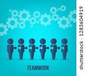 teamwork. business teamwork and ... | Shutterstock .eps vector #1283604919