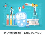 diabetes concept. measuring... | Shutterstock .eps vector #1283607430