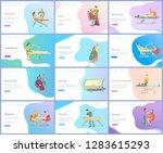 beauty and skincare procedures... | Shutterstock .eps vector #1283615293
