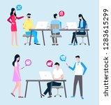 online support vector ... | Shutterstock .eps vector #1283615299