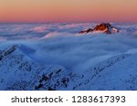 foggy morning panorama of... | Shutterstock . vector #1283617393