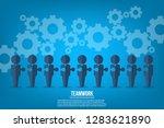 teamwork. business teamwork and ... | Shutterstock .eps vector #1283621890
