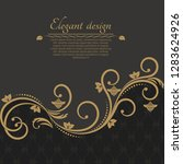 baroque ornate background with... | Shutterstock .eps vector #1283624926