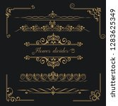 set of gold calligraphical ... | Shutterstock .eps vector #1283625349