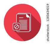 document icon with not allowed... | Shutterstock .eps vector #1283634019