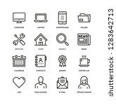universal basic line icon set | Shutterstock .eps vector #1283642713