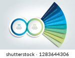 2 circle connected 3d... | Shutterstock .eps vector #1283644306