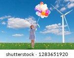 free happy woman enjoying... | Shutterstock . vector #1283651920