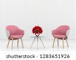 living room and chair interior... | Shutterstock . vector #1283651926