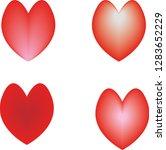 image of red heart | Shutterstock .eps vector #1283652229