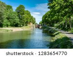 canal lock at gota canal in... | Shutterstock . vector #1283654770
