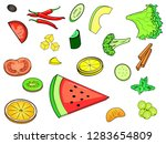 object on white background. a... | Shutterstock .eps vector #1283654809
