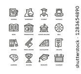 school line icon set | Shutterstock .eps vector #1283654890