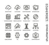 network technology line icon set | Shutterstock .eps vector #1283654923