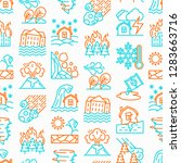 disasters seamless pattern with ... | Shutterstock .eps vector #1283663716