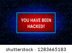 stream binary matrix code on...   Shutterstock .eps vector #1283665183
