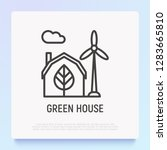 green house and windmills thin...   Shutterstock .eps vector #1283665810