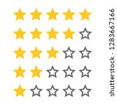 rating golden stars  set.... | Shutterstock .eps vector #1283667166