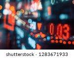 display of stock market quotes...   Shutterstock . vector #1283671933
