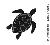 isolated black silhouette of... | Shutterstock .eps vector #1283672059