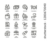 employee benefits line icon set | Shutterstock .eps vector #1283673040