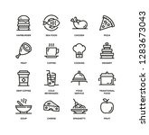 food and drink line icon set | Shutterstock .eps vector #1283673043