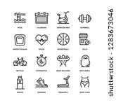 fitness line icon set | Shutterstock .eps vector #1283673046