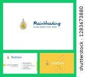water drop logo design with... | Shutterstock .eps vector #1283673880