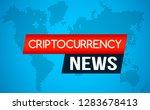 the latest news of... | Shutterstock .eps vector #1283678413