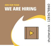 join our team. busienss company ... | Shutterstock .eps vector #1283678860
