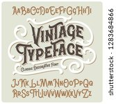 vector vintage typeface with... | Shutterstock .eps vector #1283684866