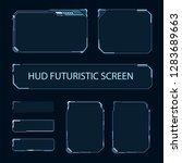 futuristic touch screen of user ...