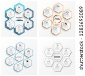 set infographics 6 options.... | Shutterstock .eps vector #1283693089