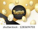 easter black  white and gold... | Shutterstock .eps vector #1283694703