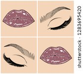 illustration with collage of...   Shutterstock .eps vector #1283695420