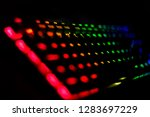 rgb gaming mechanical keyboard... | Shutterstock . vector #1283697229