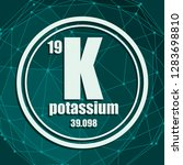 potassium chemical element.... | Shutterstock .eps vector #1283698810