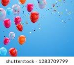 background birthday balloons... | Shutterstock .eps vector #1283709799